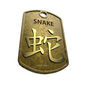 3d snake chinese zodiac