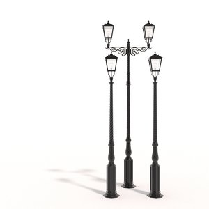 cast iron street lamps obj