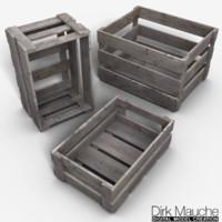 set crates 3d model