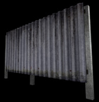 3d corrugated metal fence