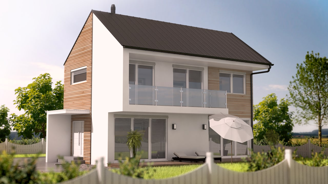 3dsmax modern house