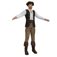 3d pirate hat model