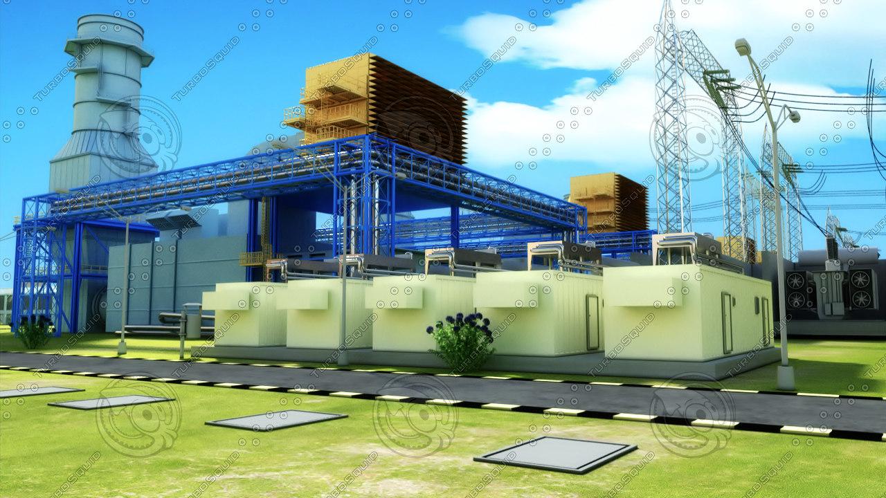 3d model electrical plant