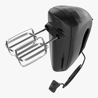 hand mixer black 3d model
