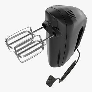 hand mixer black 3d model