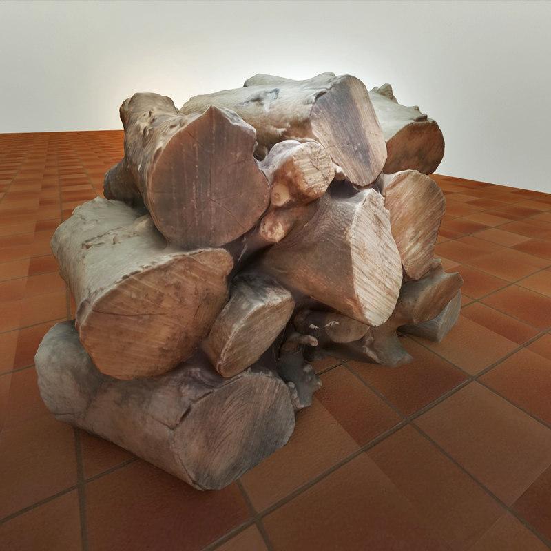 realistic wood 3d model