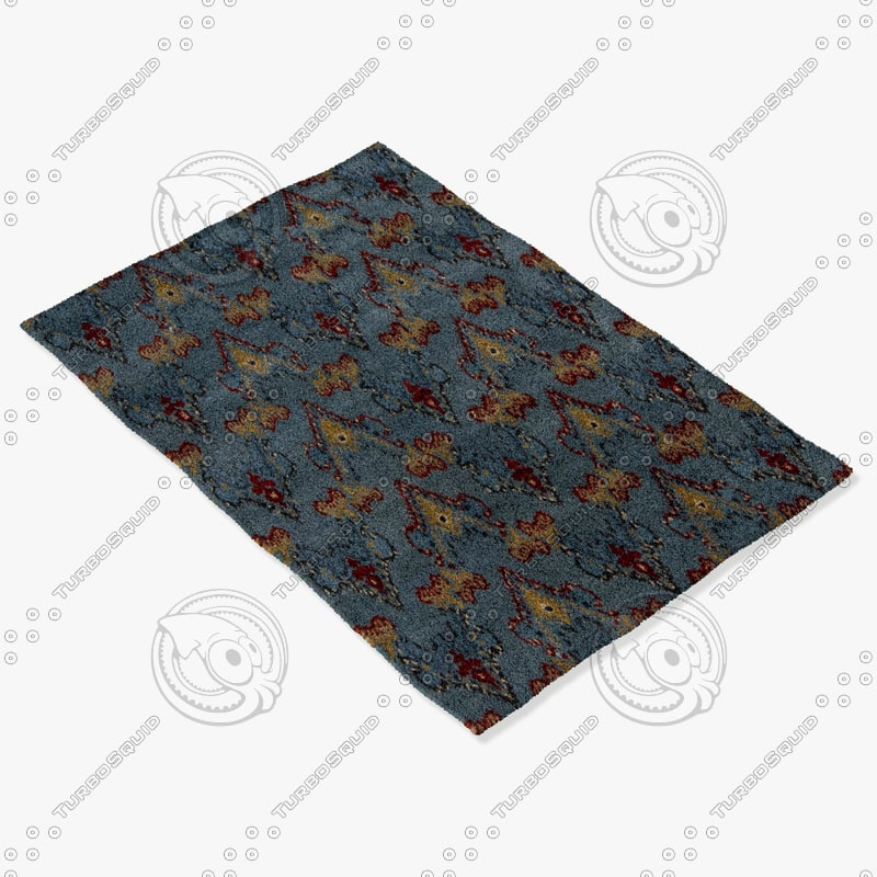 chandra rugs rup-39621 3d model