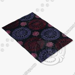 chandra rugs sta-31600 3d model