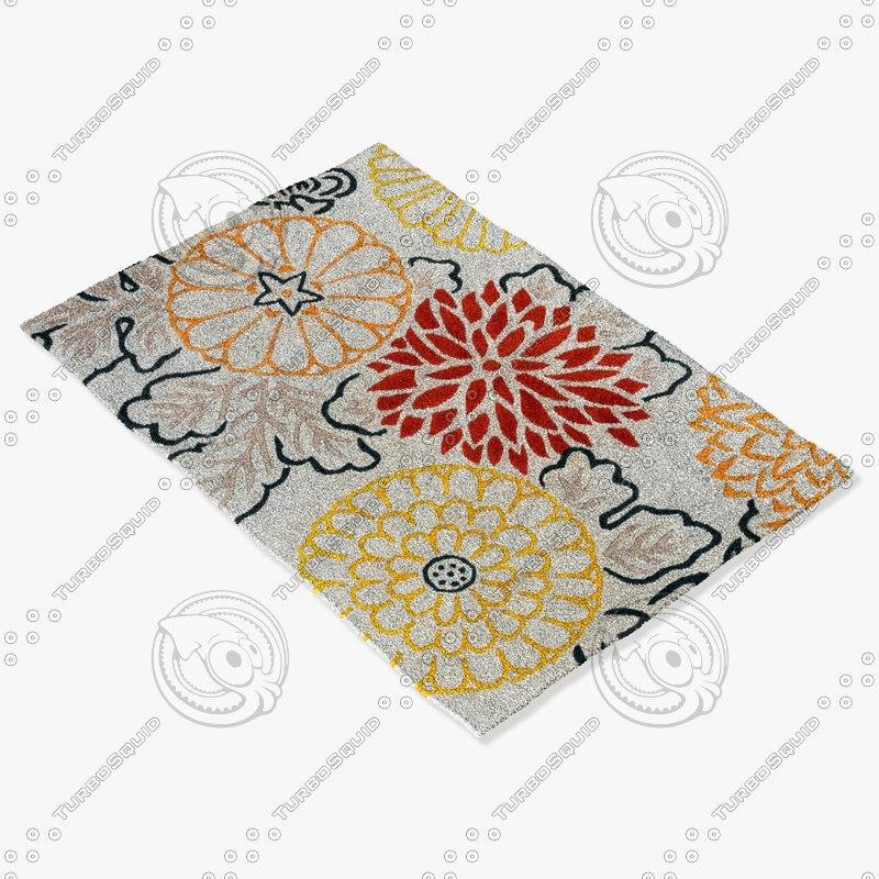 3d model chandra rugs t-kirg
