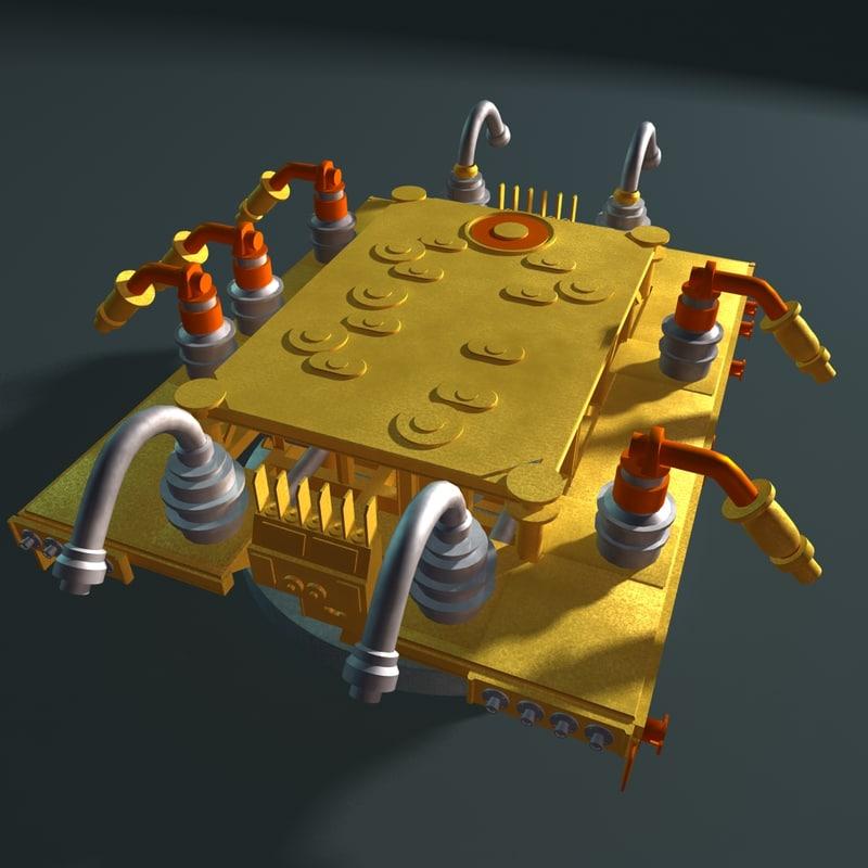 subsea production manifold 3d obj