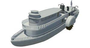paddlewheel ship 3d model