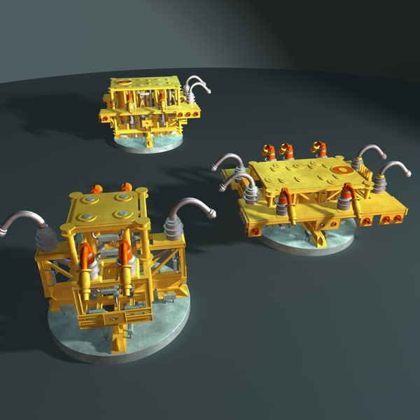 3d subsea manifold model