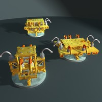 3d subsea manifold model