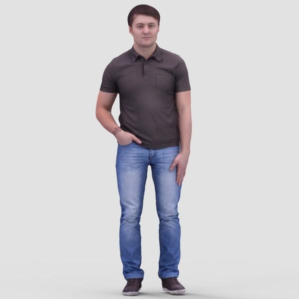 human casual man 3d model