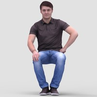 Tim Casual Sitting - 3D Human Model
