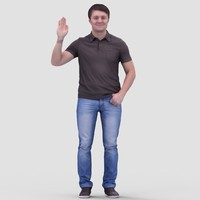 Tim Casual Standing 2 - 3D Human Model