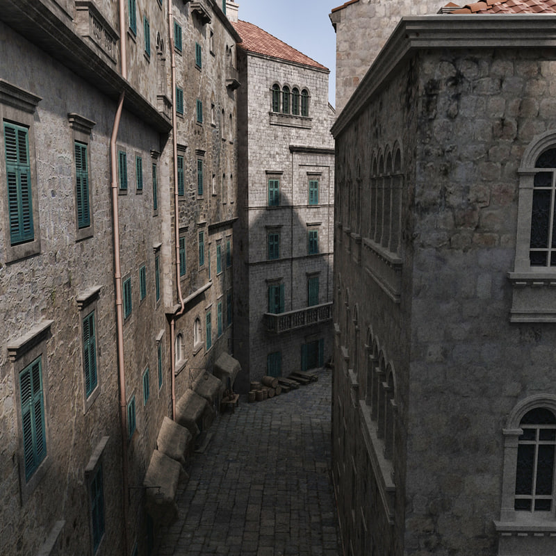 old town 3d model