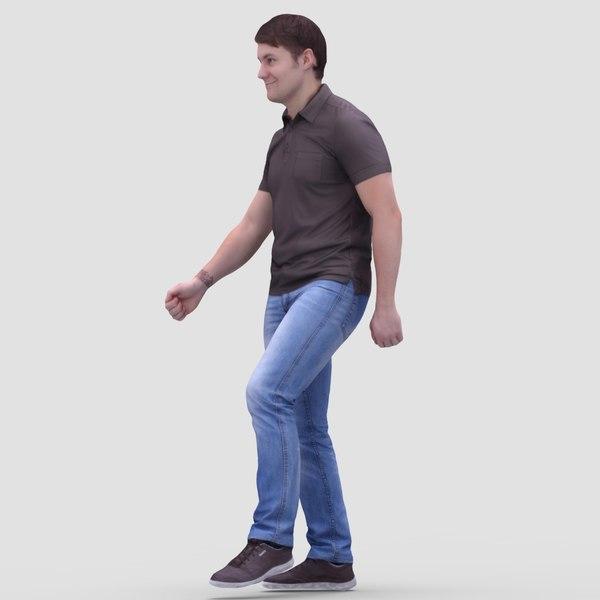3d model human casual man
