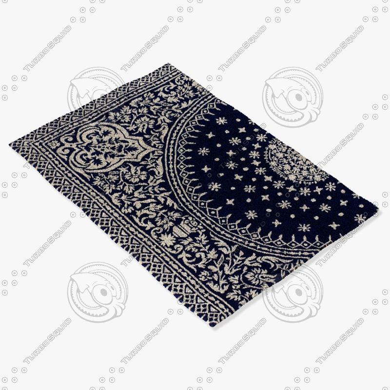 3d model chandra rugs t-soic