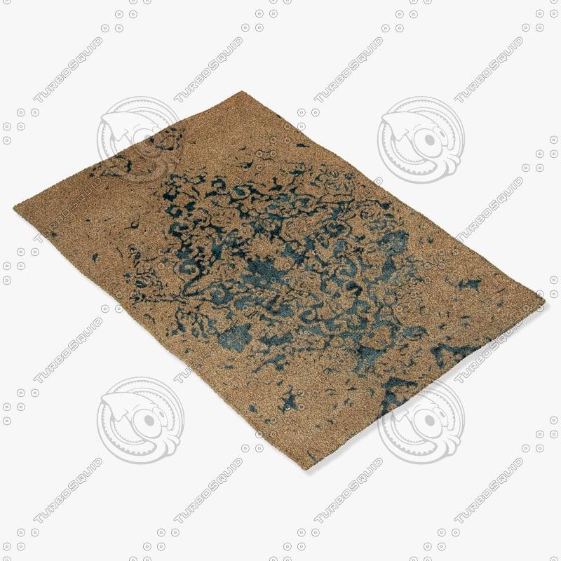 3d chandra rugs vel-29302 model
