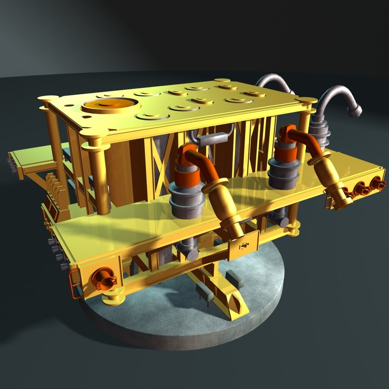 subsea gas manifold 3d model