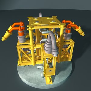 water injection manifold 3d obj