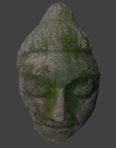 3ds max mossy stone face