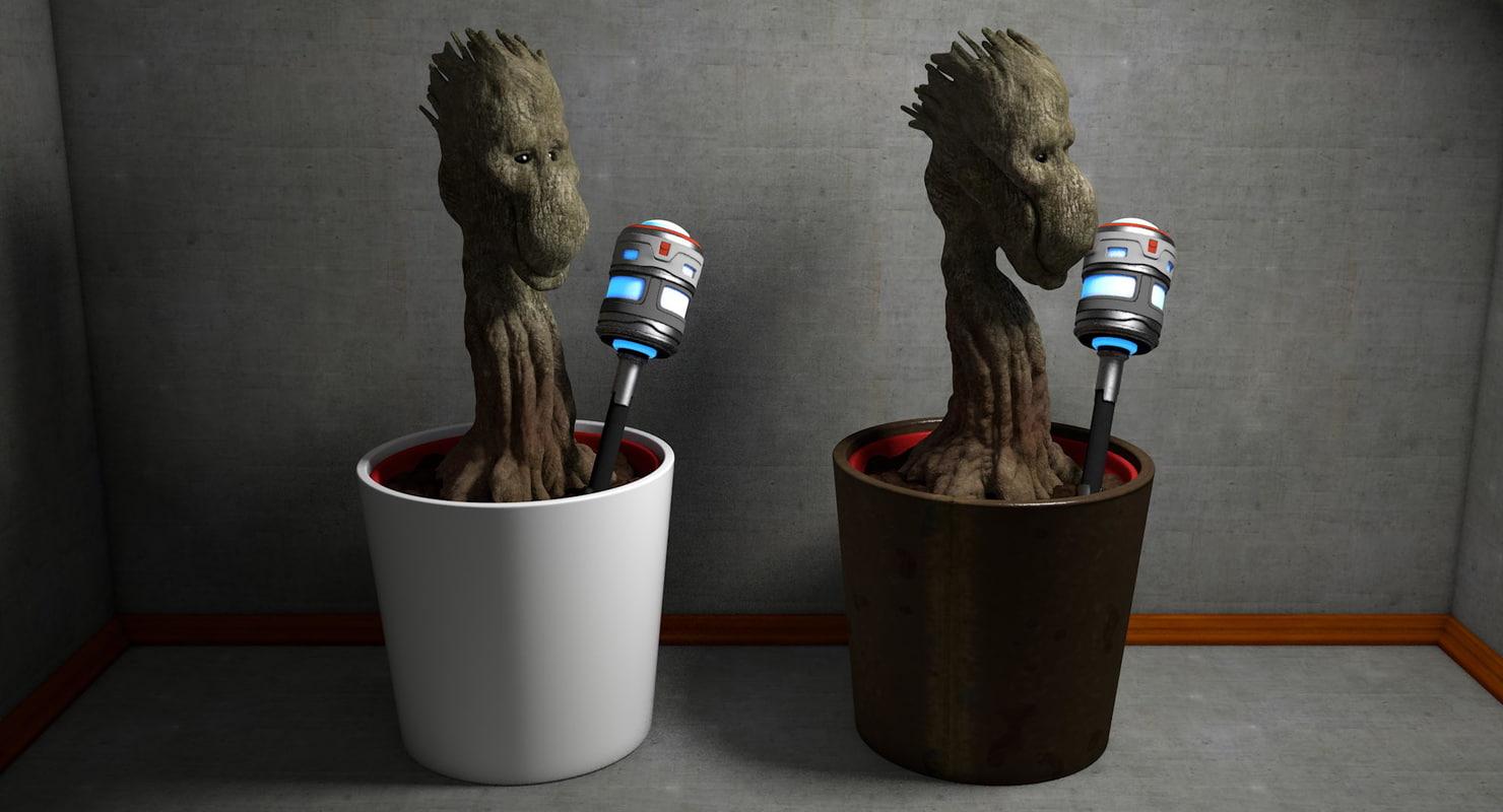 3d model creature plant