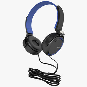 3d sony mdr-xb250