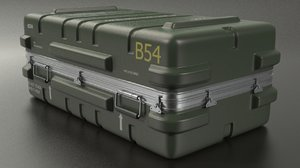 3d military crate model