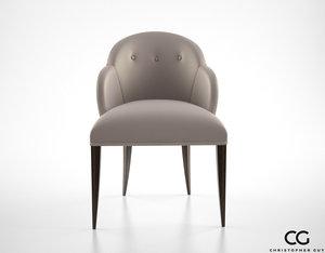 christopher guy vera chair 3d model