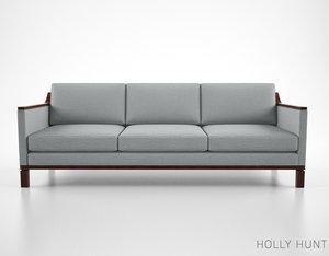 holly hunt vienna sofa 3d ma
