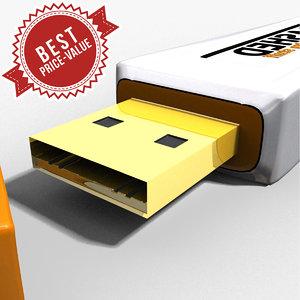 flash drive 3d max