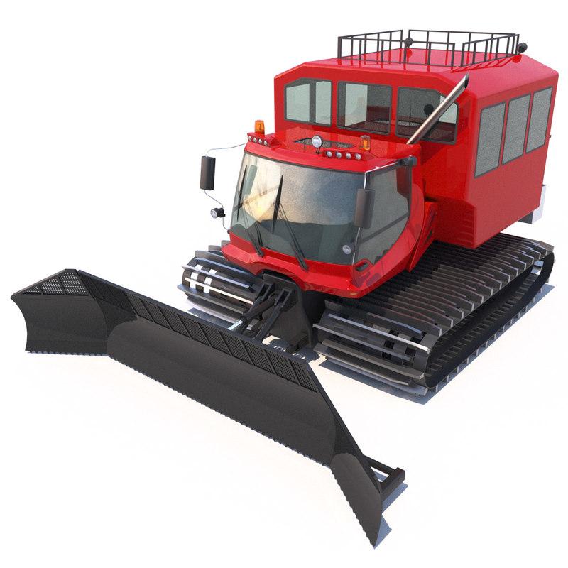 3d snowcat pistenbully 600 passengers model