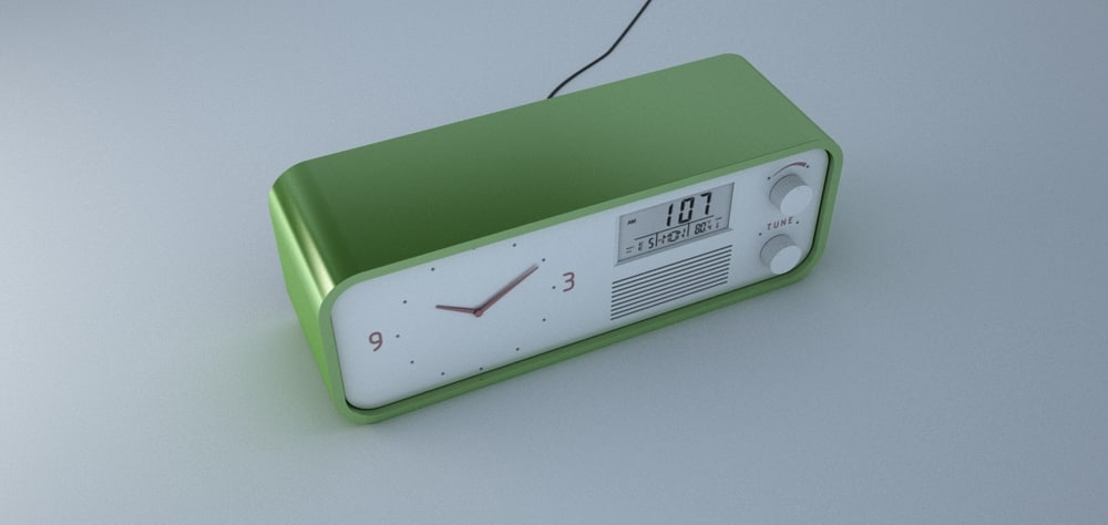 3ds max clock radio
