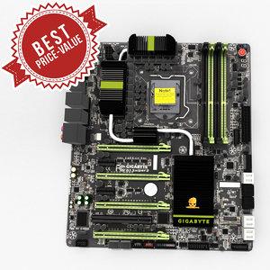 pc motherboard gigabyte g1 3d model