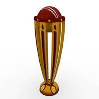 cup cricket 3d model