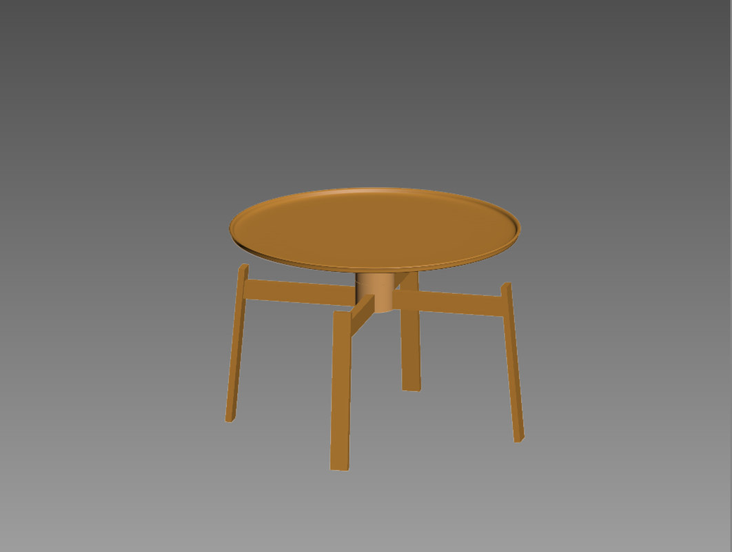 3d model italia husk coffe table