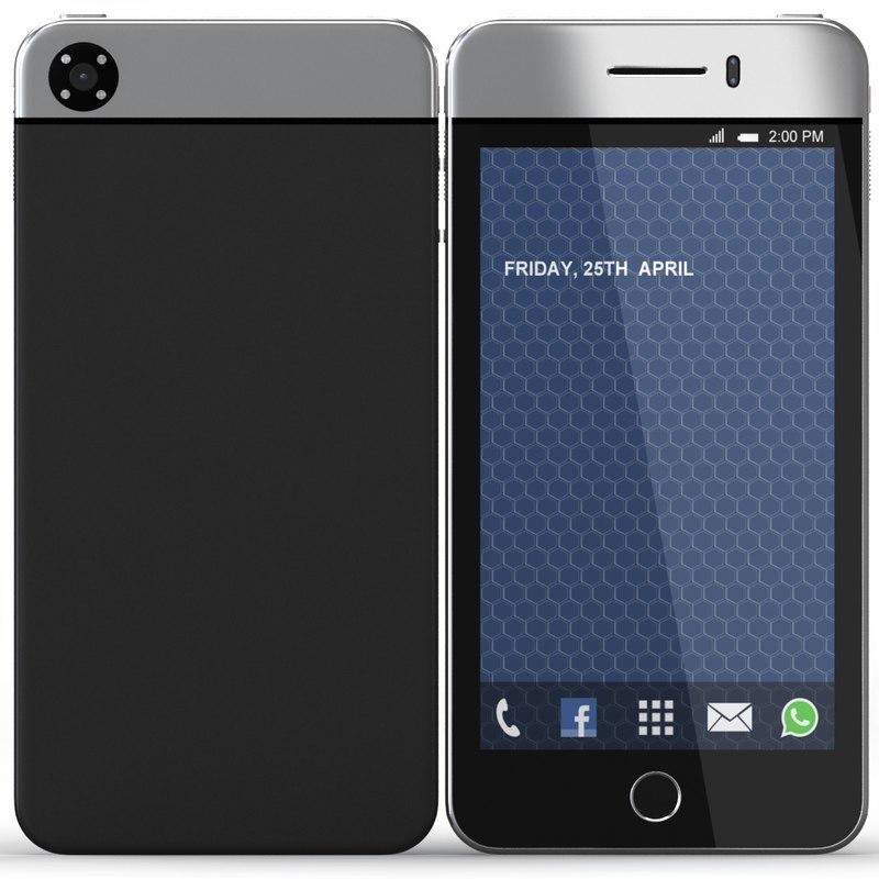 3d model futuristic phone