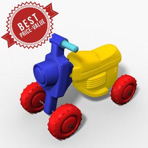 plastic buggy 3d model