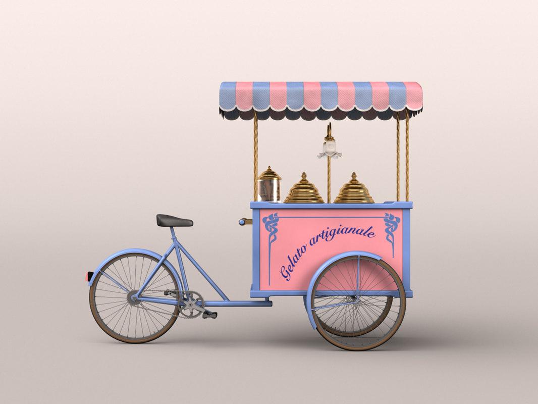 3dsmax ice-cream cart