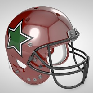 3d american football helmet