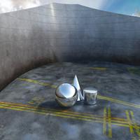 virtual exterior scene 3d max