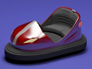electric bumper cars 3d model