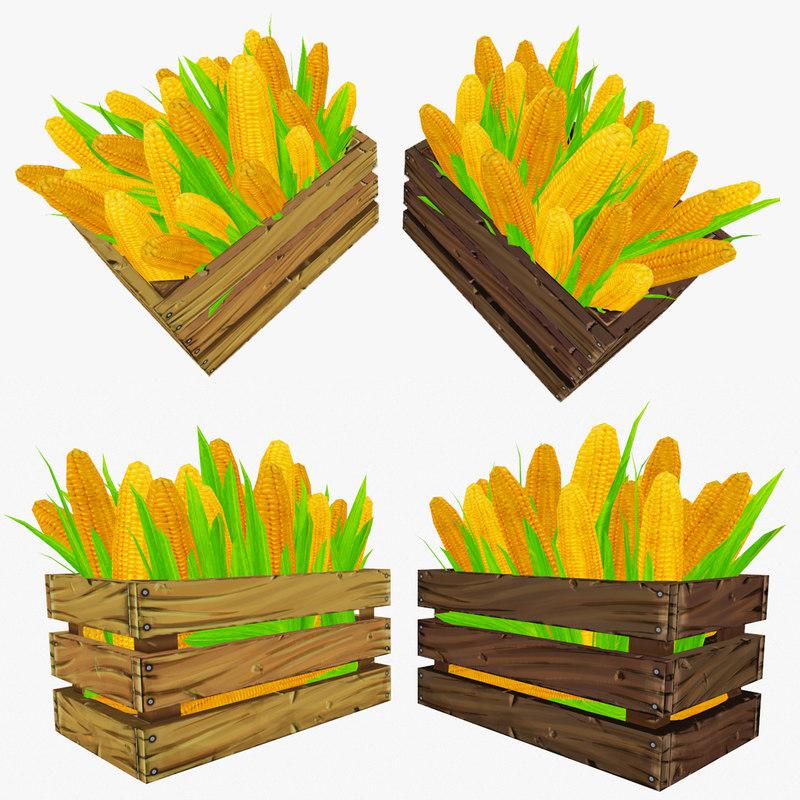 crate corn obj