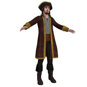 3d pirate hat model