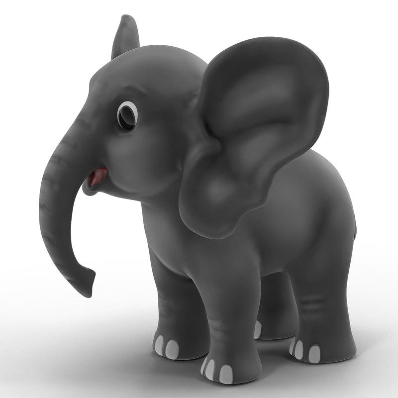 cartoon elephant 3d models for download turbosquid