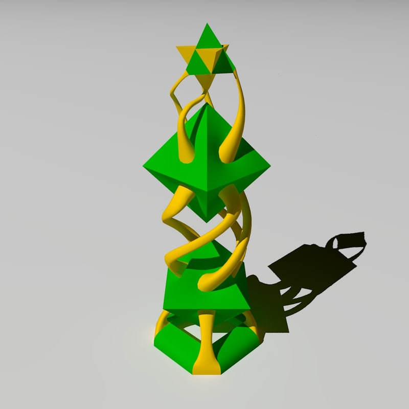 3ds max abstract chess king lighting