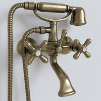 3d model of bath mixer shower