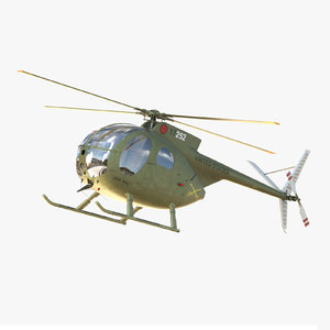 3ds hughes oh-6 helicopter bell